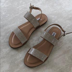 NWOT Steve Madden Rhinestone Sandals